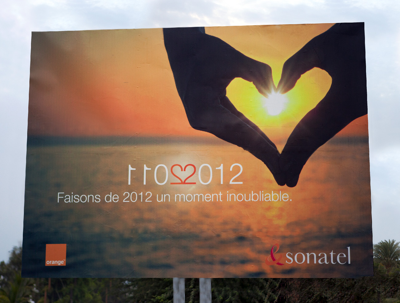 2011-2012 ORANGE billboard, Senegal, West Africa